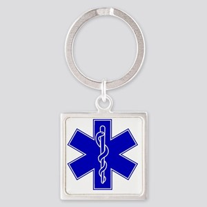star-of-life-blue Square Keychain