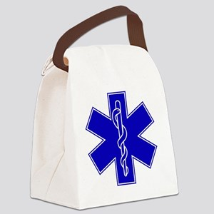 star-of-life-blue Canvas Lunch Bag