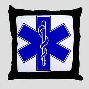 star-of-life-blue Throw Pillow