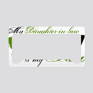 daughter in law License Plate Holder