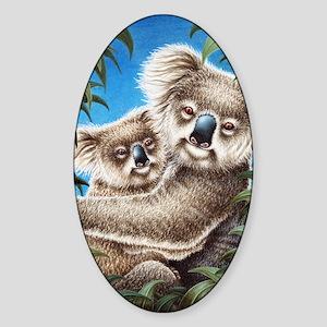 Koalas Together (Kindle Sleeve) Sticker (Oval)