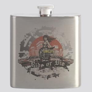 Ride or Die Yellow Flask