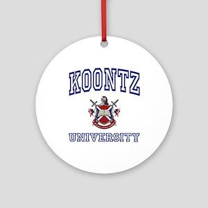 KOONTZ University Ornament (Round)