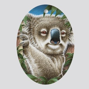 Koalas Portrait (Kindle Sleeve) Oval Ornament