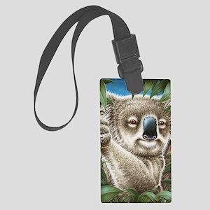 Koalas Portrait (Kindle Sleeve) Large Luggage Tag