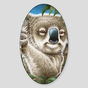 Koalas Portrait (Kindle Sleeve) Sticker (Oval)