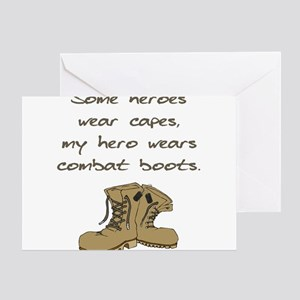 Some Heroes Wear Capes Greeting Cards