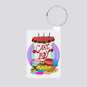cakelady Aluminum Photo Keychain