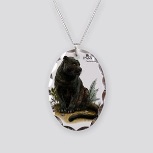 Black Panther Necklace Oval Charm