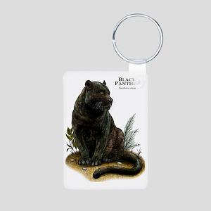 Black Panther Aluminum Photo Keychain