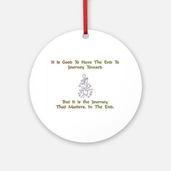 JourneyTowardXXX Round Ornament