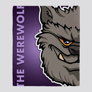 ipadsleeve_txt_werewolf_gray Throw Blanket