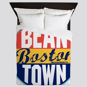 Boston Vintage Label W Queen Duvet