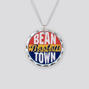Boston Vintage Label W Necklace Circle Charm
