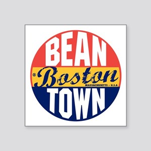 "Boston Vintage Label B Square Sticker 3"" x 3"""