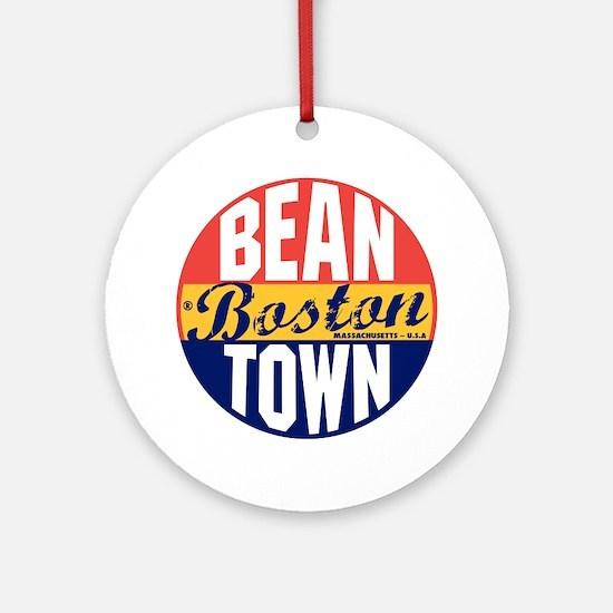 Boston Vintage Label B Round Ornament