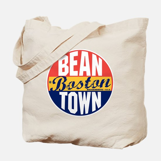 Boston Vintage Label B Tote Bag