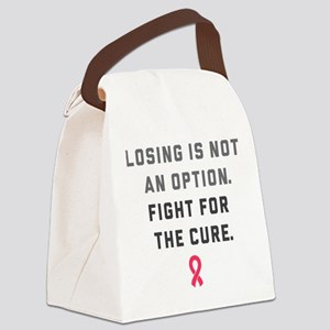Losing Is Not An Option Canvas Lunch Bag