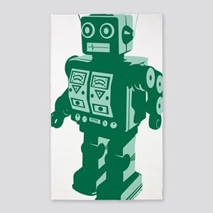Robot Green 3'x5' Area Rug