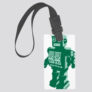 Robot Green Large Luggage Tag