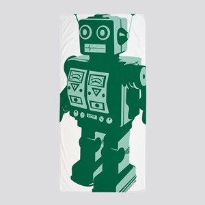 Robot Green Beach Towel