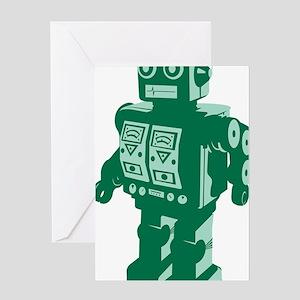 Robot Green Greeting Card