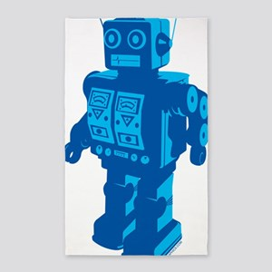Robot Blue 3'x5' Area Rug