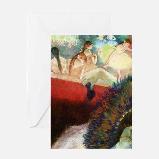 degas at the theatre Greeting Card
