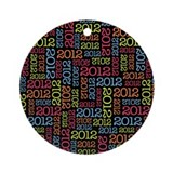 2012 graduation Round Ornaments