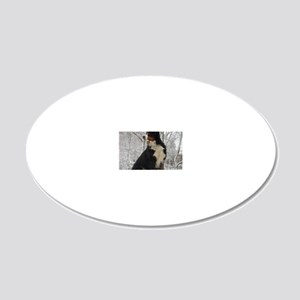 Bernese Mountain Dog 20x12 Oval Wall Decal