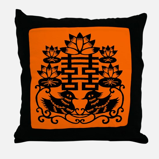 """Double Happiness"" Throw Pillow"