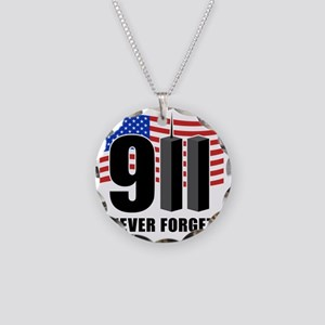 911 Necklace Circle Charm