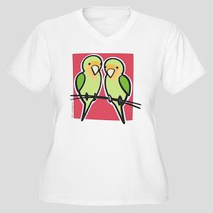 lovebirds Women's Plus Size V-Neck T-Shirt