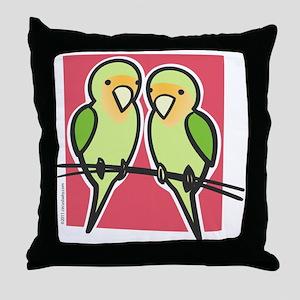 lovebirds Throw Pillow