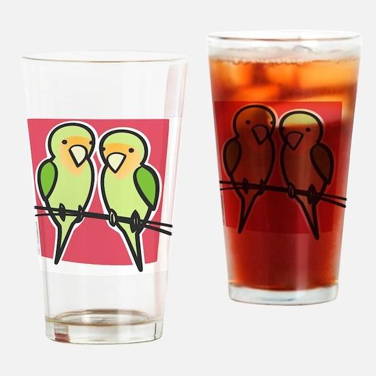 lovebirds Drinking Glass