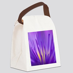 purple flower Canvas Lunch Bag