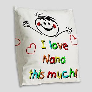 Nana This Much Burlap Throw Pillow
