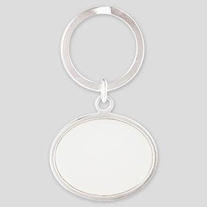 RT it pushes the laryngoscope WHITE  Oval Keychain