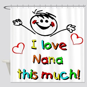 Nana This Much Shower Curtain