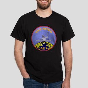 AE-2 USS Nitro Ammunition Ship Milita Dark T-Shirt