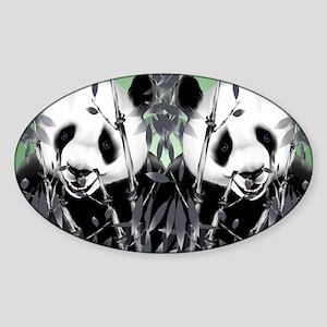 panda_flip_flops Sticker (Oval)