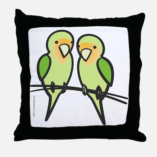 lovebirds_only Throw Pillow