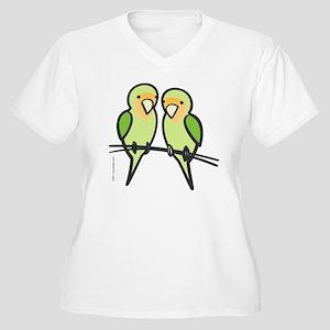 lovebirds_only Women's Plus Size V-Neck T-Shirt