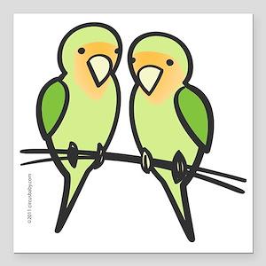 "lovebirds_only Square Car Magnet 3"" x 3"""
