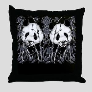 panda_flip_flops Throw Pillow