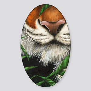 Tiger Nose (Kindle Sleeve) Sticker (Oval)