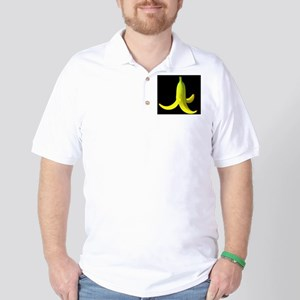 banana peel black Golf Shirt