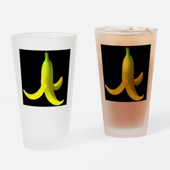 banana peel black Drinking Glass