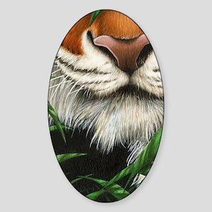 Tiger Nose (iPad Sleeve) Sticker (Oval)