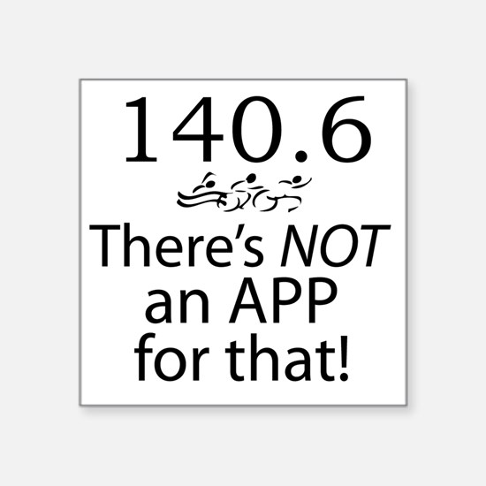 """Theres Not An App For That  Square Sticker 3"""" x 3"""""""